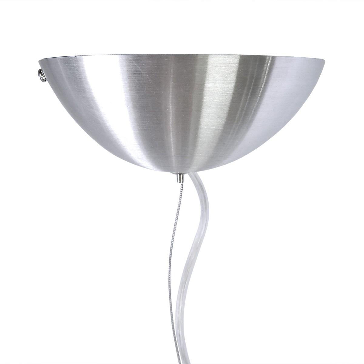 Pendente Trio Aluminio+Vidro Triangular Fosco E-27 1 Lamp. Max 60w Branco