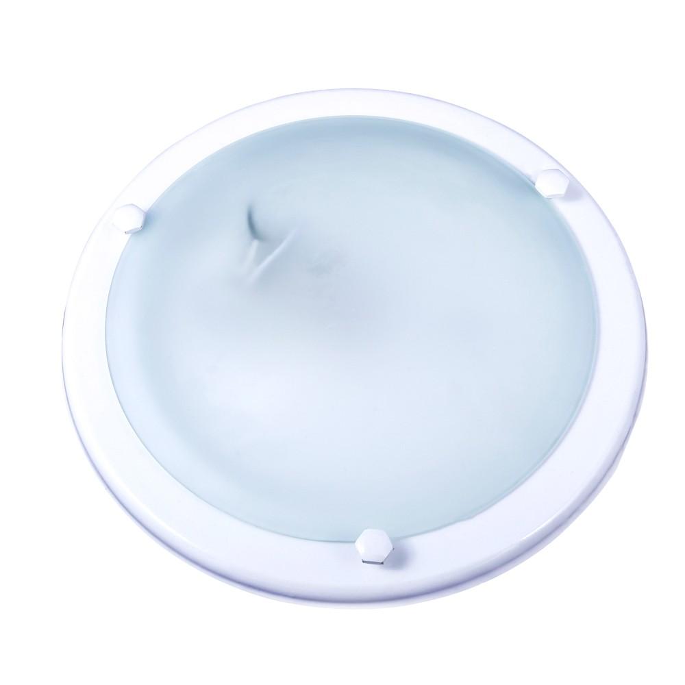 Plafon Aro Italia Vidro Fosco 24cm 1 Lamp. E-27 Max 60w Branco