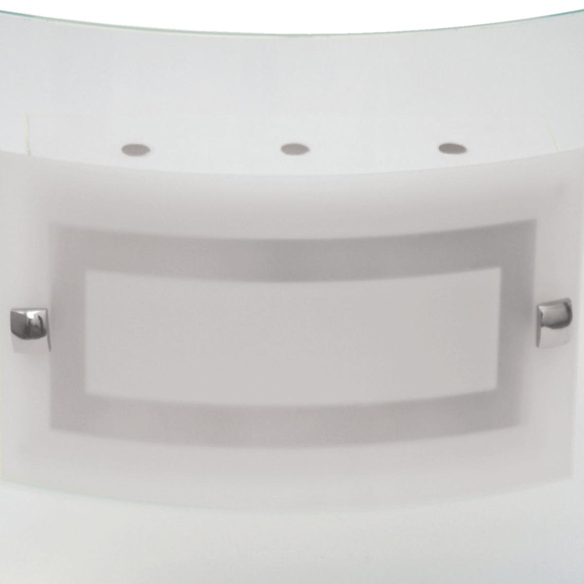 Plafon Artico 30x30cm Com Vidro Curvo Fosco E-27 2 Lamp. Max 60w