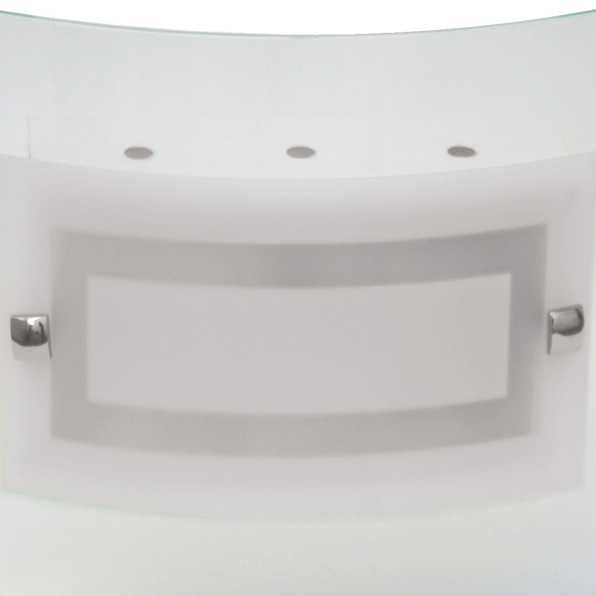 Plafon Artico 40x40cm Com Vidro Curvo Fosco E-27 3 Lamp. Max 60w
