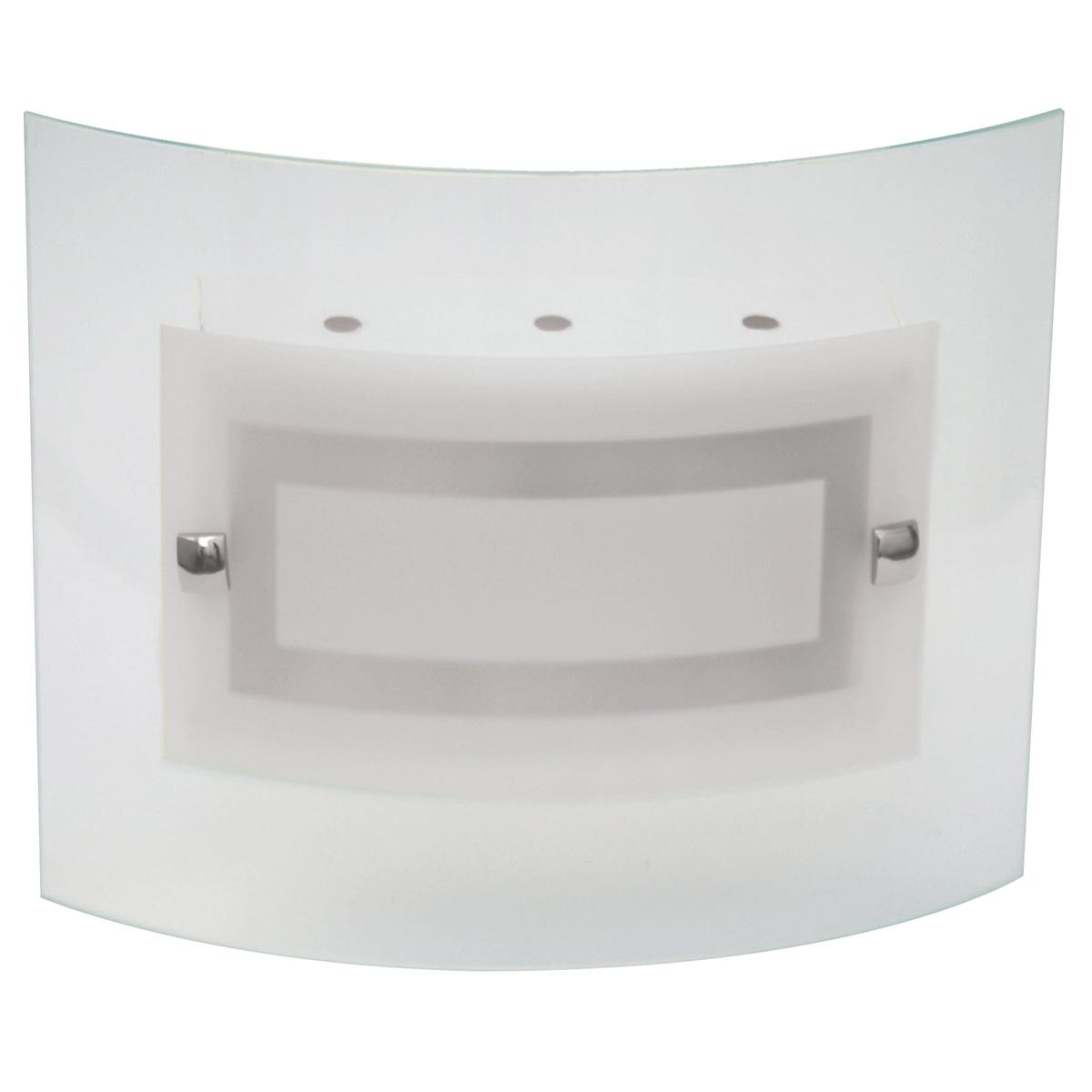 Plafon Artico 50x50cm Com Vidro Curvo Fosco E-27 4 Lamp. Max 60w