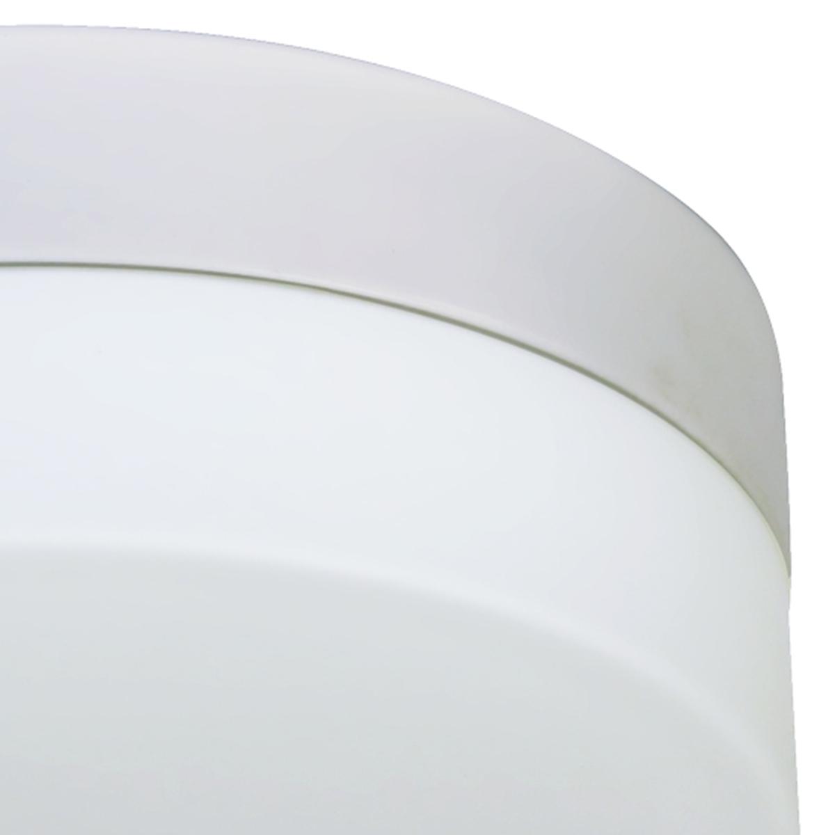 Plafon Belle Redondo 19cm Vidro Leitoso 1 Lamp. E-27 Max 60w Base Branco