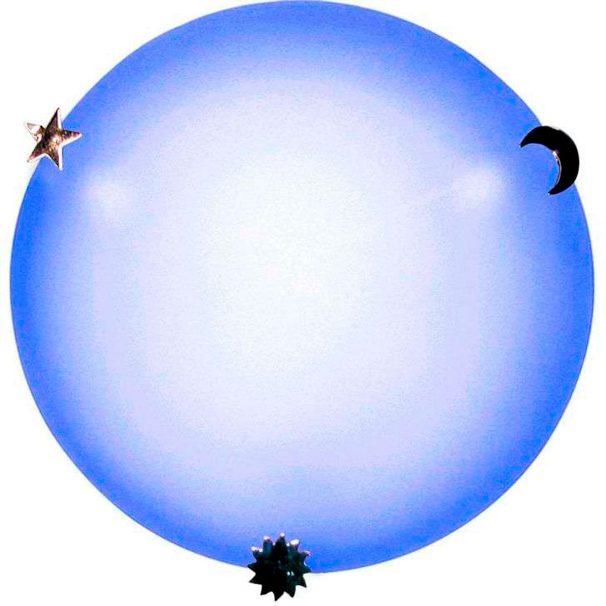 Plafon Colors 30cm 2 Lampadas E-27 Max 60w Vidro Azul