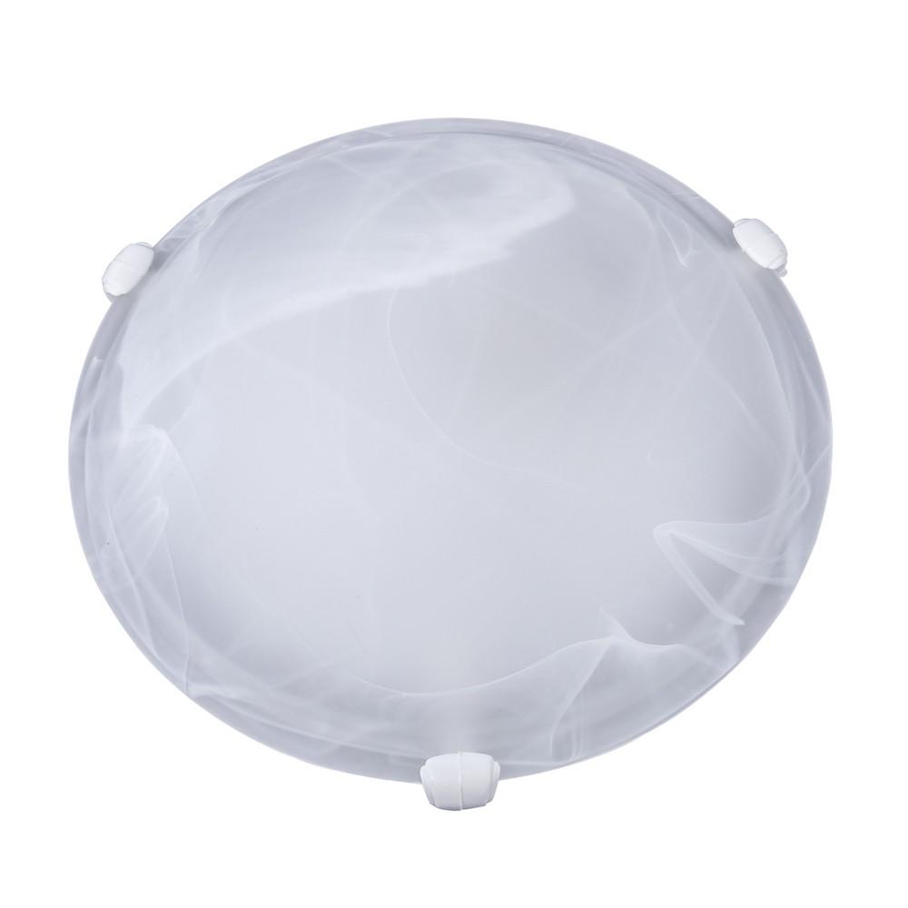 Plafon Murano Vidro 25cm 1 Lamp. E-27 Max 60w Branco Garra Branca