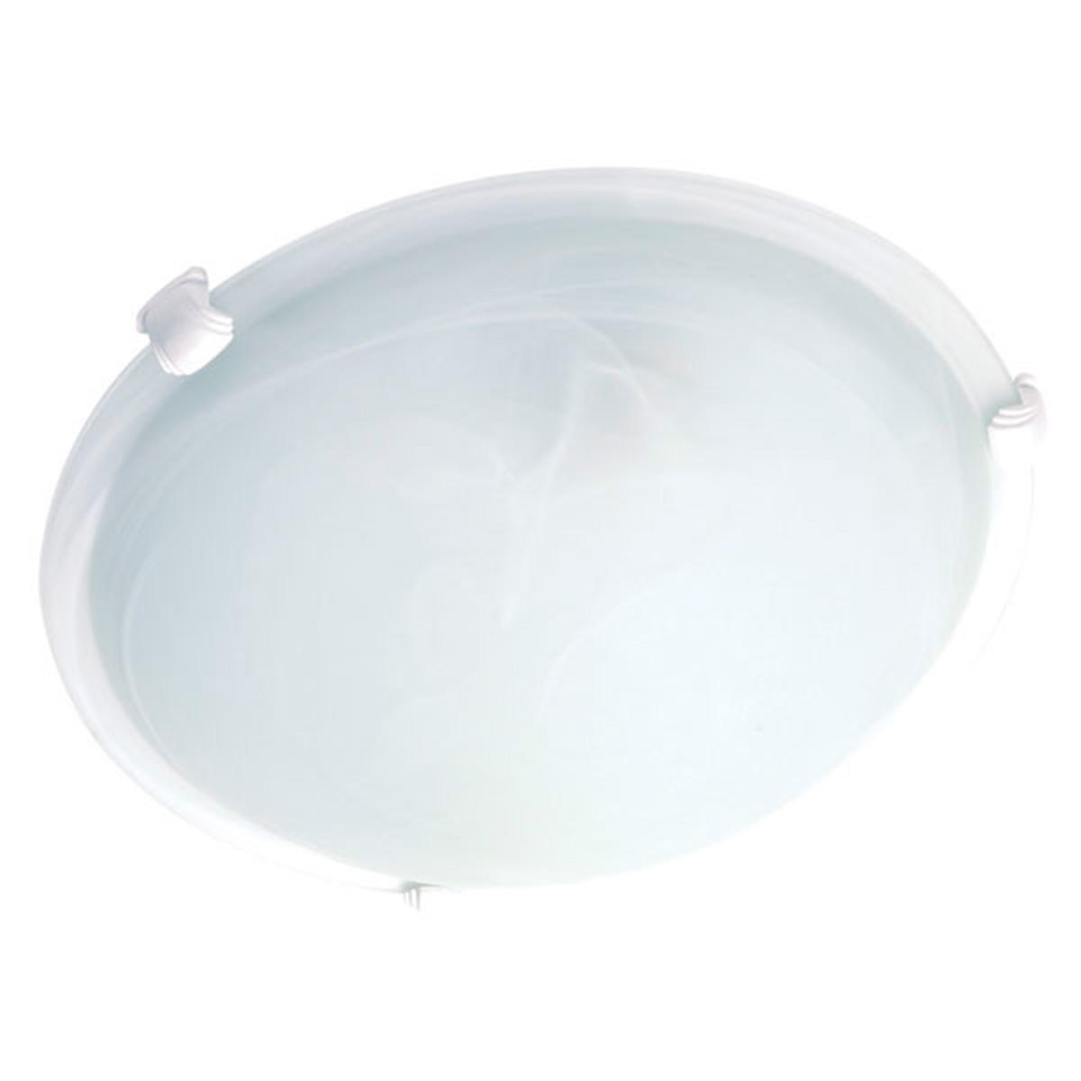 Plafon Murano Vidro 40cm 3 Lampadas E-27 Max 60w Cor Branco Com Garra Branca