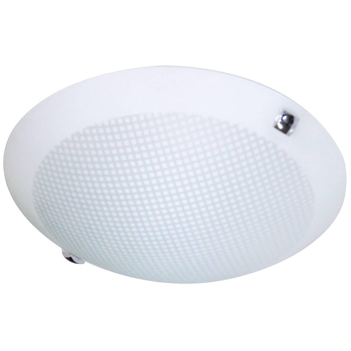 Plafon Nuvem Vidro Fosco 35cm 2 Lamp. E-27 Max 60w Branco Redondo 05 Unidades