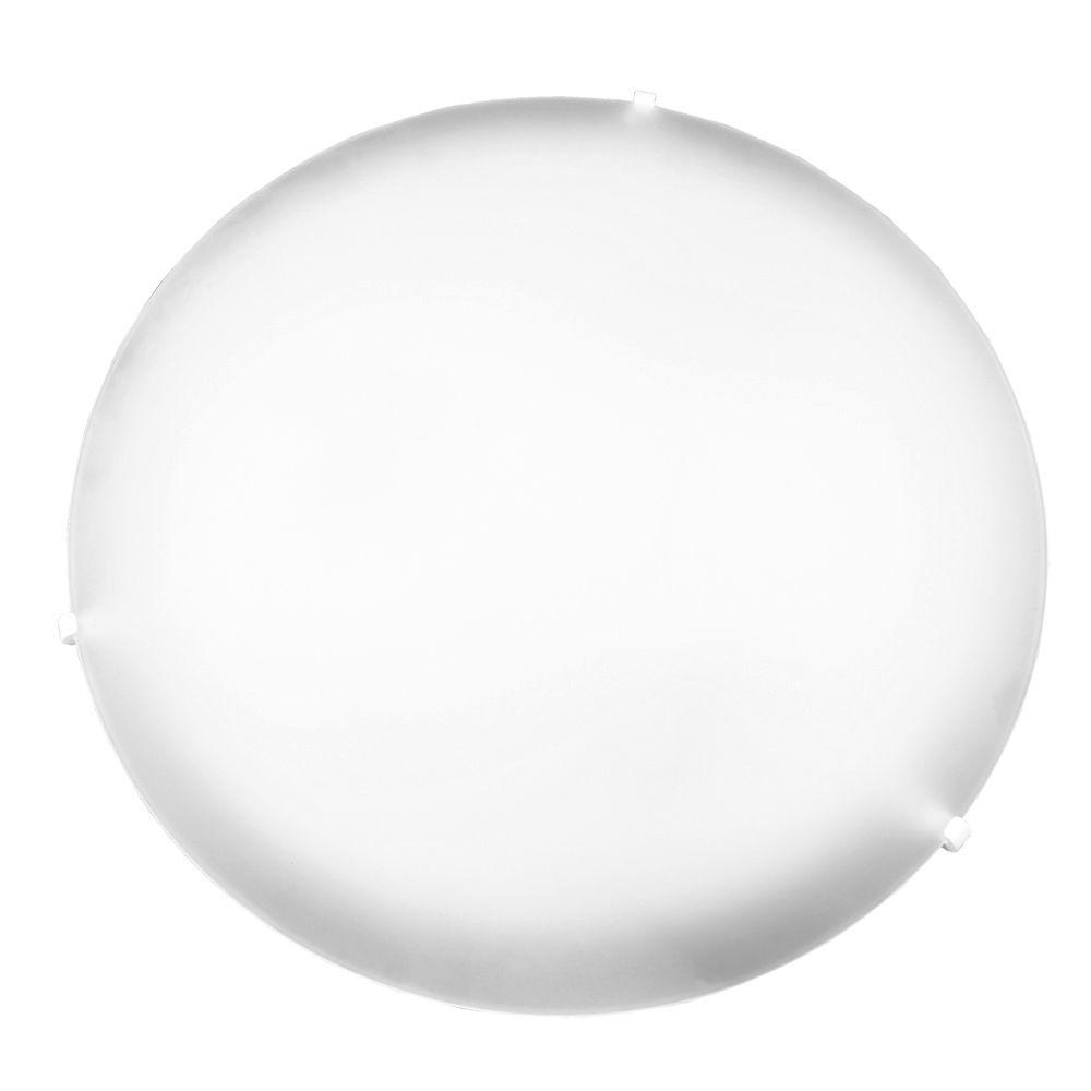 Plafon Pop Colors 40cm Para 3 Lampadas Com Soquete E-27 E Vidro Branco