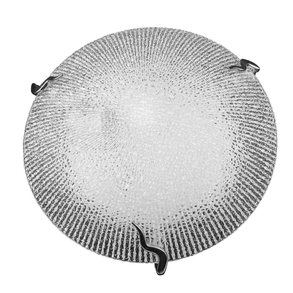 Plafon Prisma Vidro Craquelado 40cm 3 Lamp. E-27 Max 60w 05 Unidades