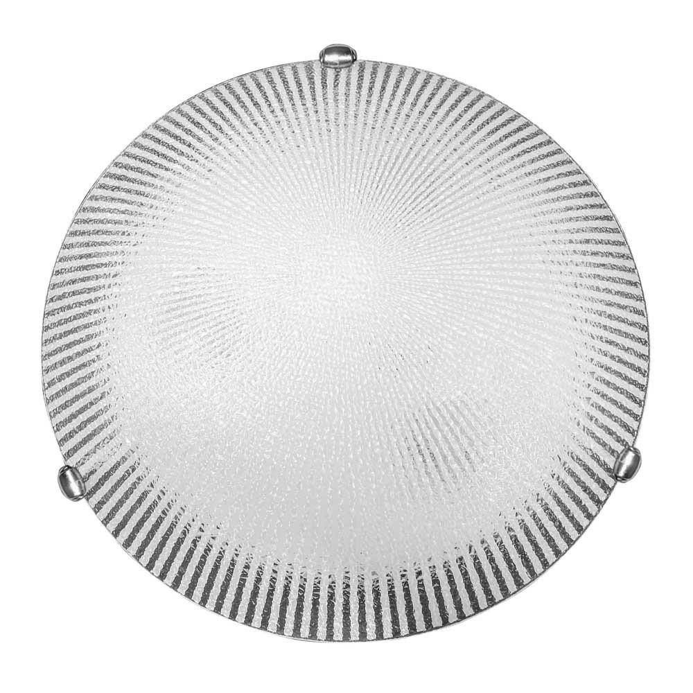 Plafon Prisma Vidro Craquelado 40cm 3 Lamp. E-27 Max 60w
