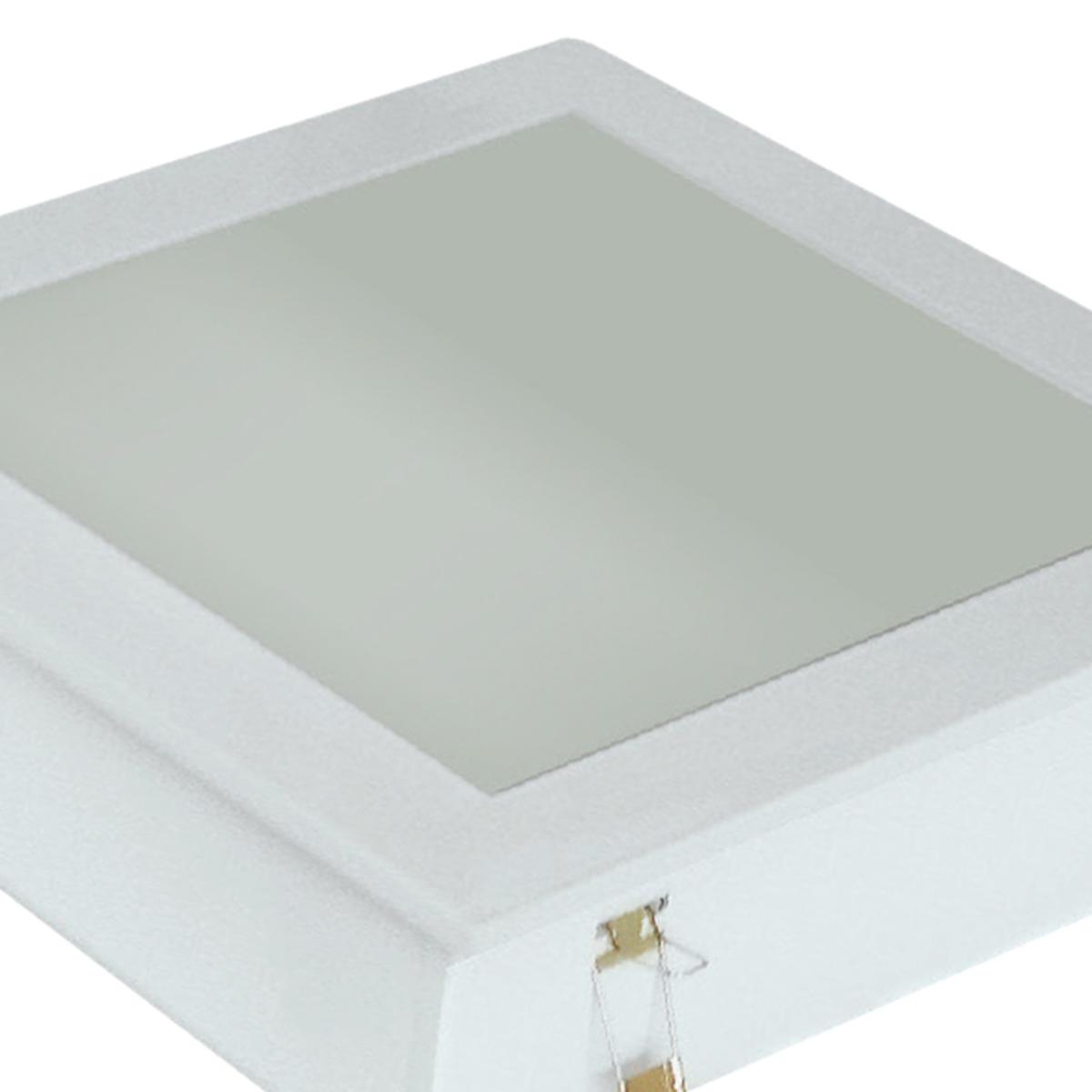 Plafon Space Emb. Quad. 30cm Alum. Vidro Fosco E-27 3 Lamp. Max 60w Branco