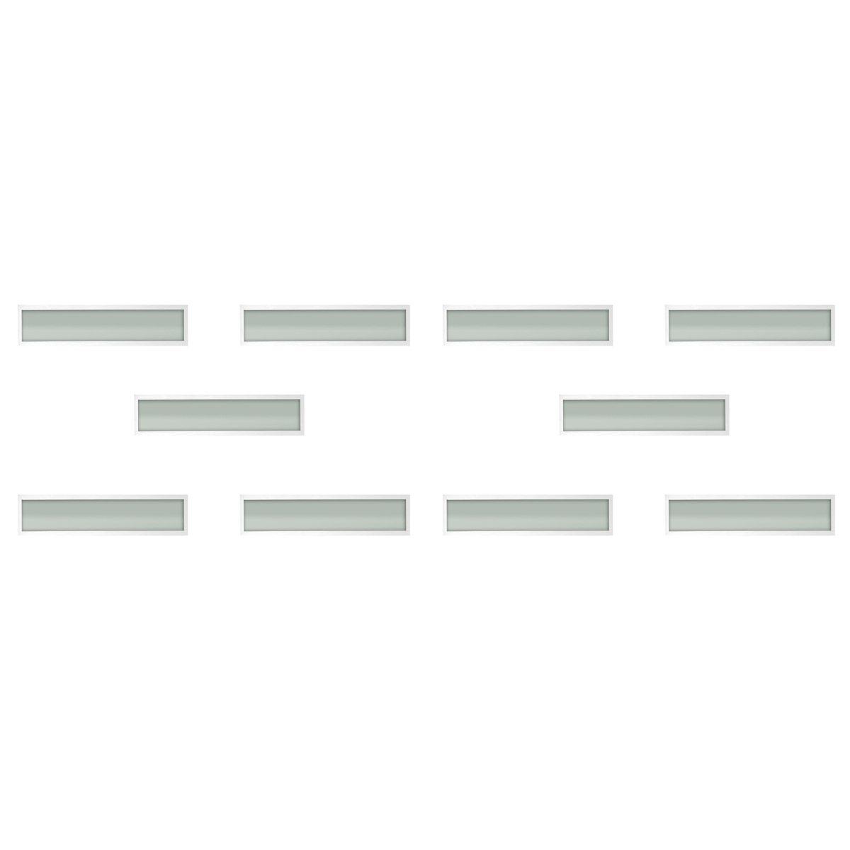 Plafon Space Emb. Ret. 135cm Alum. Vidro Fosco 2x40w Fluor.  Branco 10 Unidades