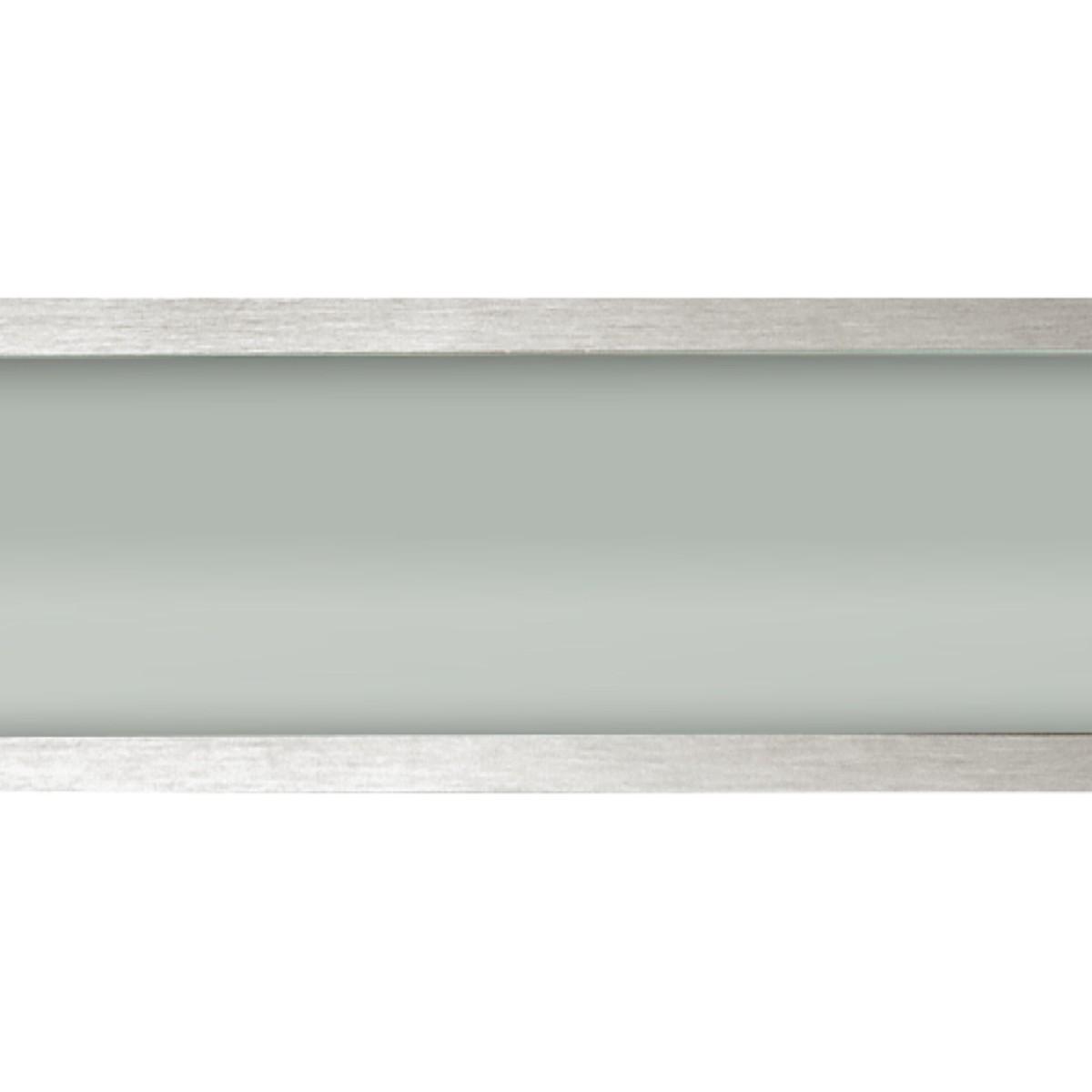 Plafon Space Emb. Ret.   35cm Alum. Vidro Fosco E-27 2 Lamp. Max 60w Escovado Kit Com 05 Unidades