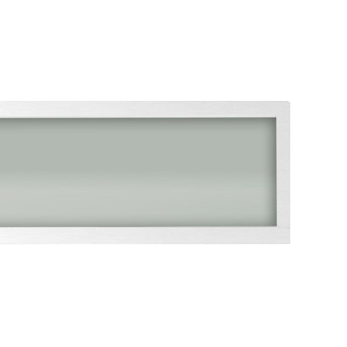 Plafon Space Emb. Ret.   75cm Alum. Vidro Fosco 2x20w Fluor.  Branco 05 Unidades