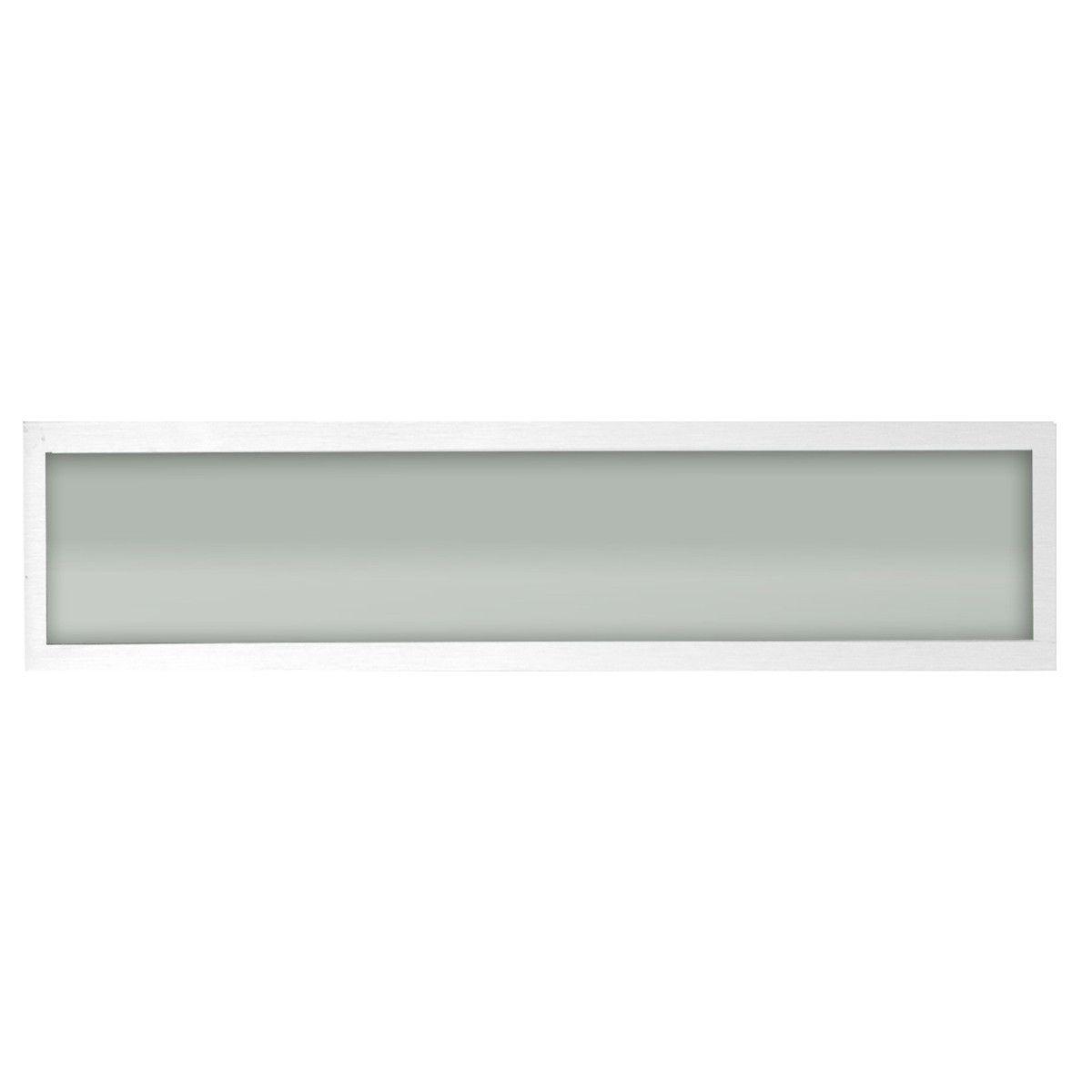 Plafon Space Emb. Ret.   75cm Alum. Vidro Fosco 2x20w Fluor.  Branco 10 Unidades