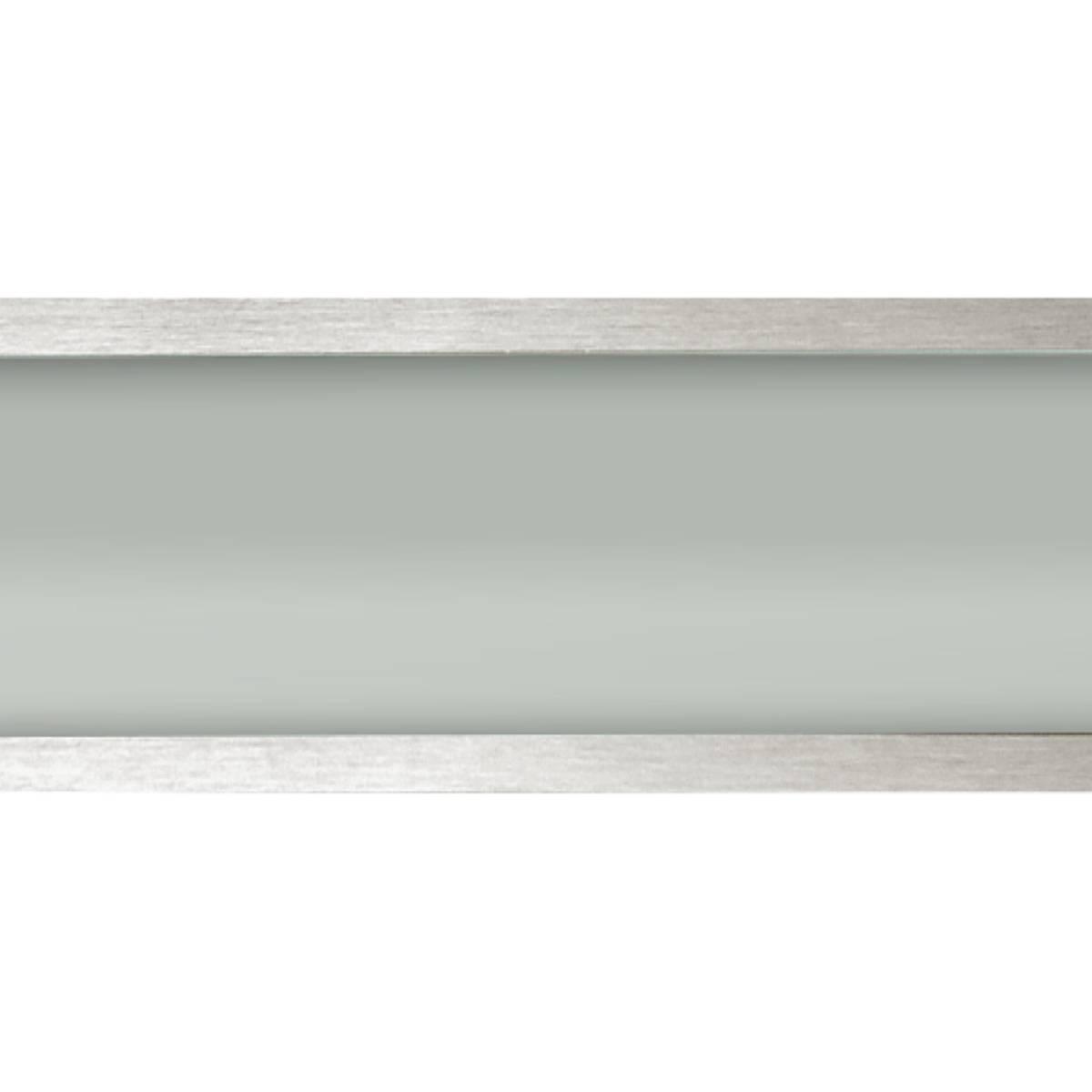 Plafon Space Emb. Ret.   75cm Alum. Vidro Fosco 2x20w Fluor.  Escovado 05 Unidades