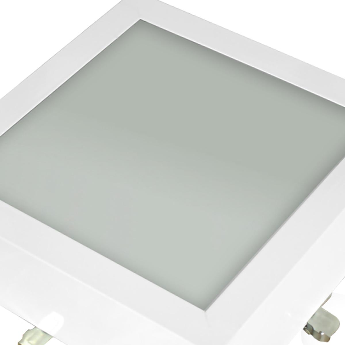 Plafon Space Sobr. Quad. 20cm Alum. Vidro Fosco E-27 1 Lamp. Max 60w Branco