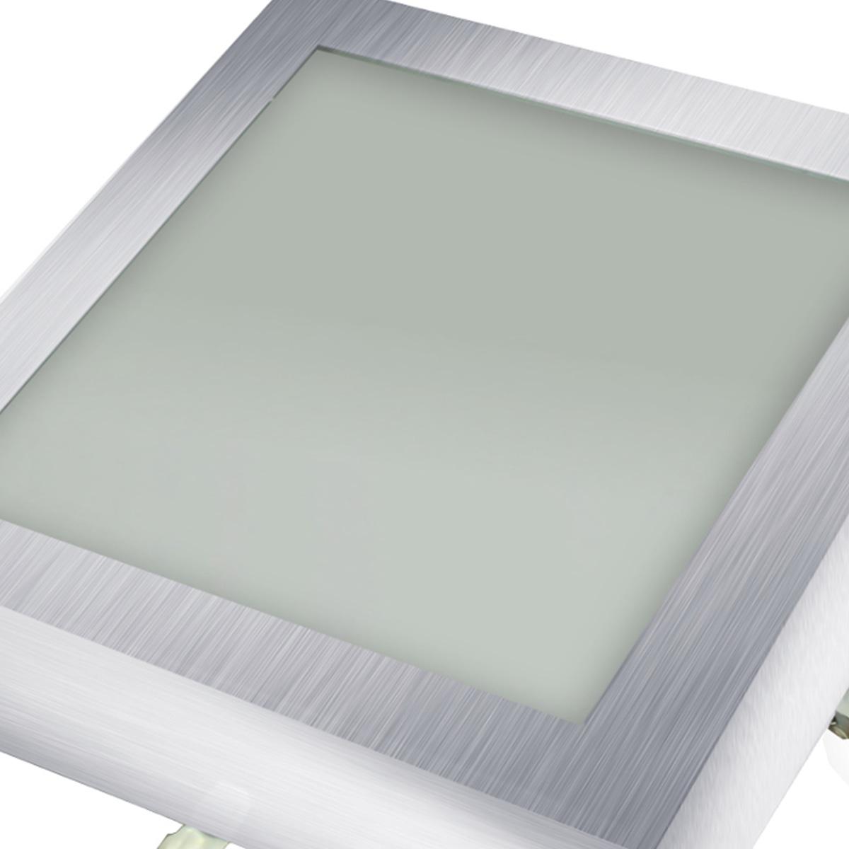 Plafon Space Sobr. Quad. 30cm Alum. Vidro Fosco E-27 3 Lamp. Max 60w Escovado