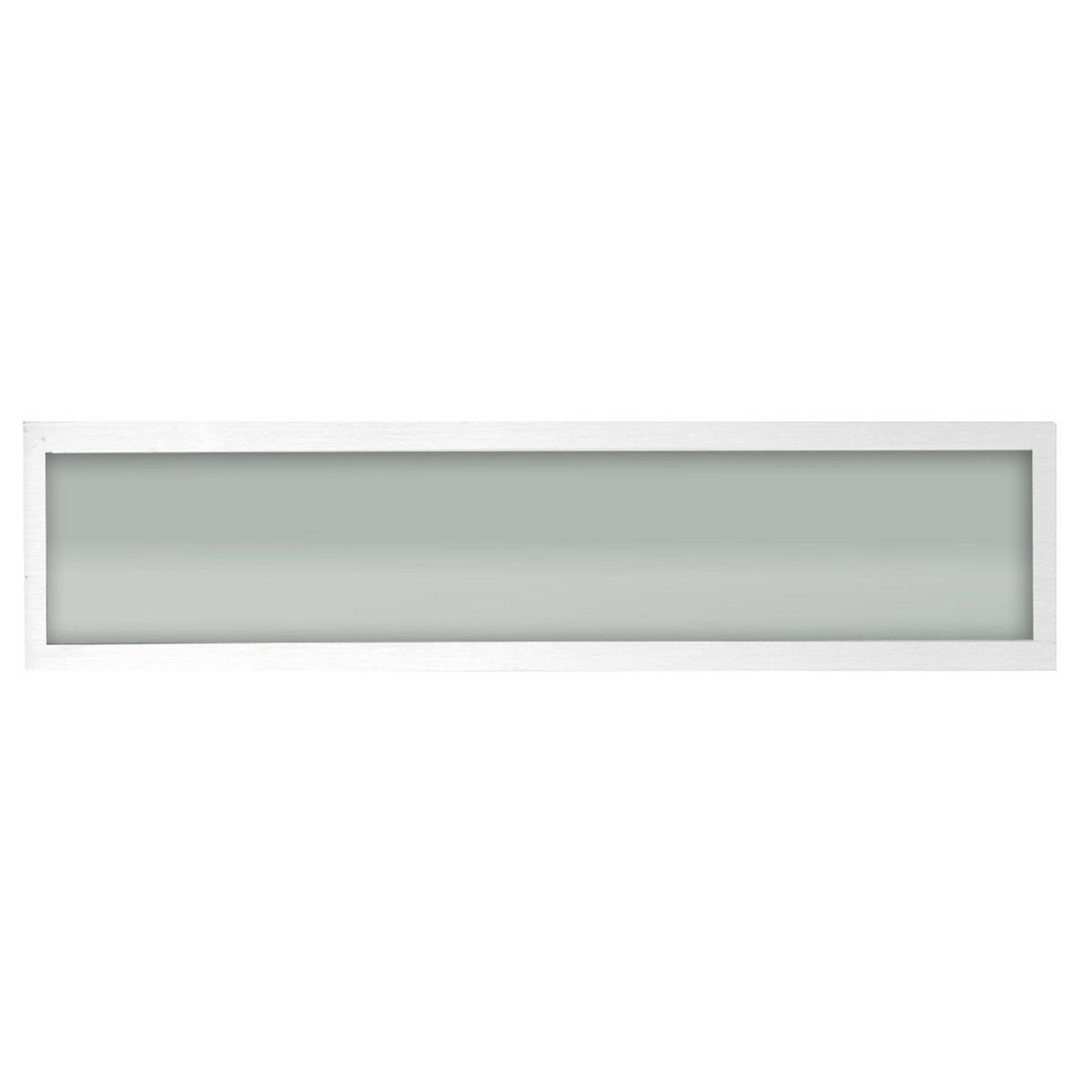 Plafon Space Sobr. Ret. 135cm Alum. Vidro Fosco 2x40w Fluor. Branco