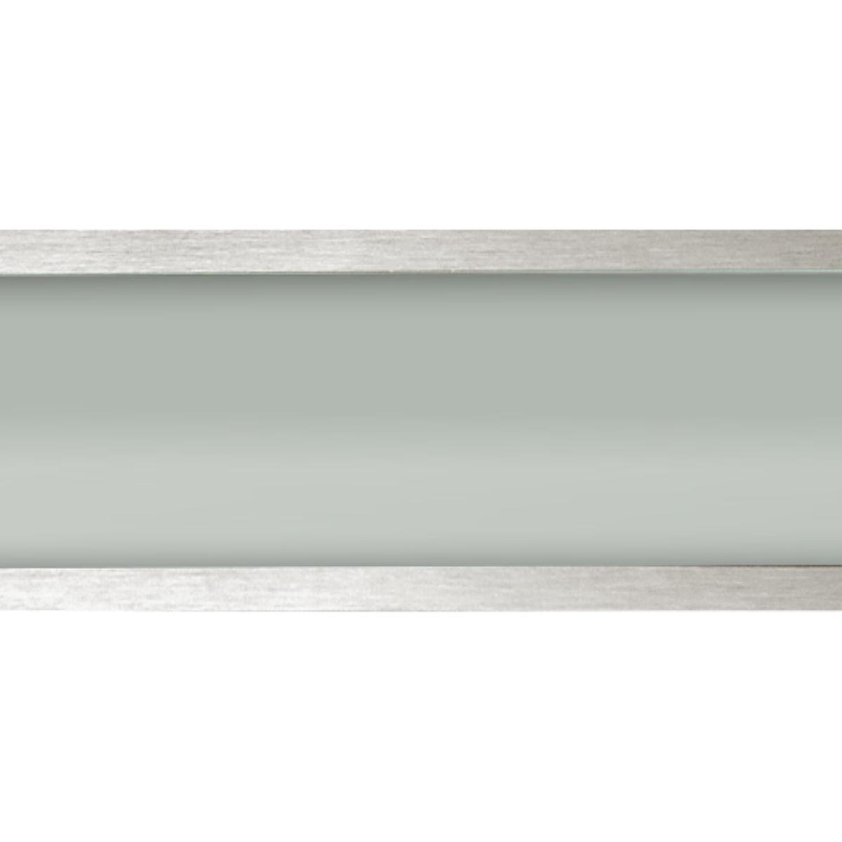 Plafon Space Sobr. Ret. 135cm Alum. Vidro Fosco 2x40w Fluor. Escovado