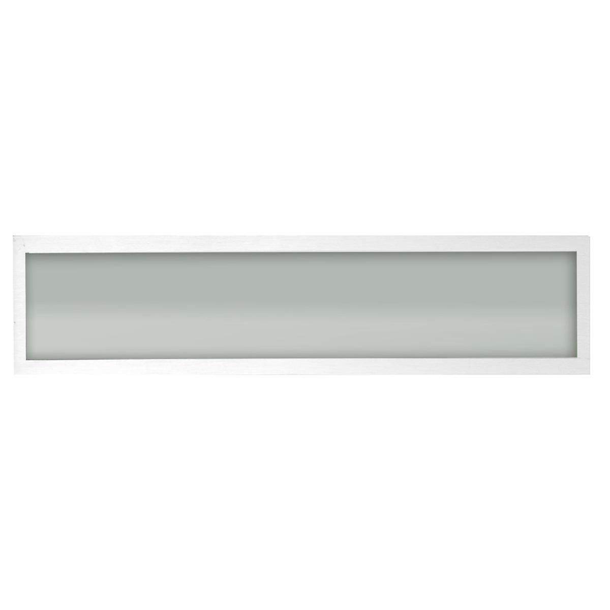 Plafon Space Sobr. Ret. 75cm Alum. Vidro Fosco 2x20w Fluor. Branco