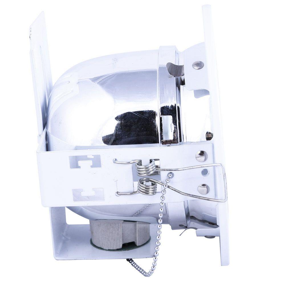 Refletor De Embutir 14cm Com Vidro Fosco E-27 1 Lamp. Max 60w Branco
