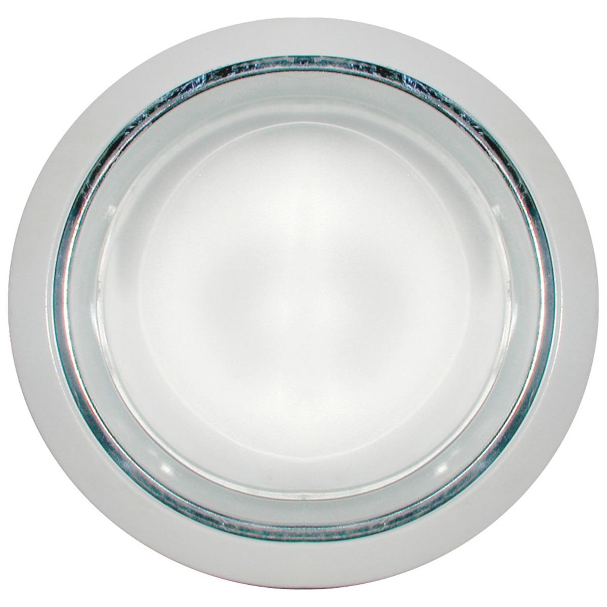 Refletor De Embutir 23cm Com Vidro Fosco E-27 2 Lamp. Max 60w Branco