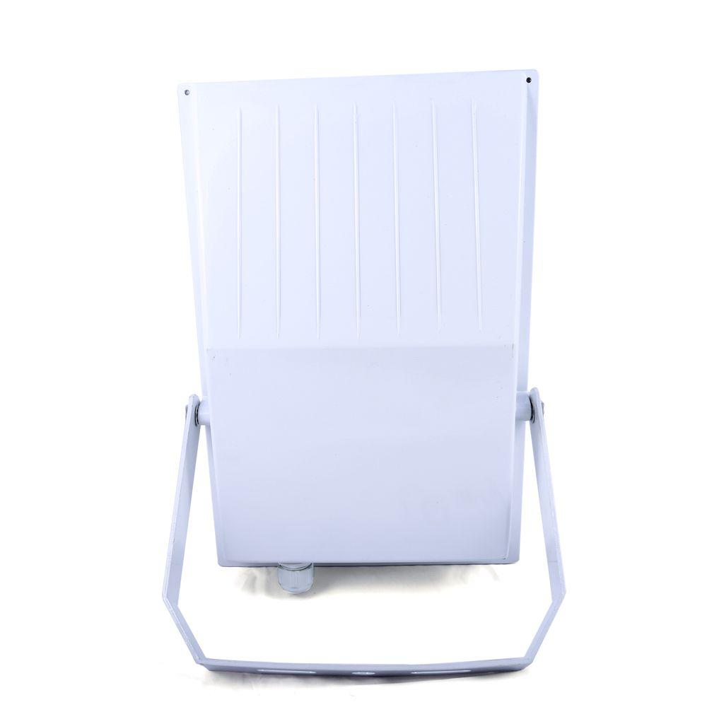 Refletor New Branco Externo Lampada Halógena Vidro Transparente