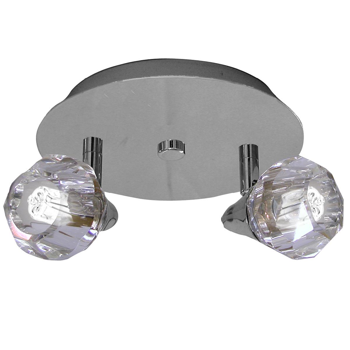 Spot Base Diamont Circular Aco Regulavel Base G-9 2 Lamp. Gelinho Max. 35w