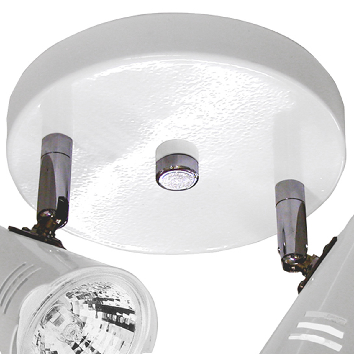 Spot Base Lince Aco Regulavel Base Gu-10 2 Lamp. Max. 50w Branco