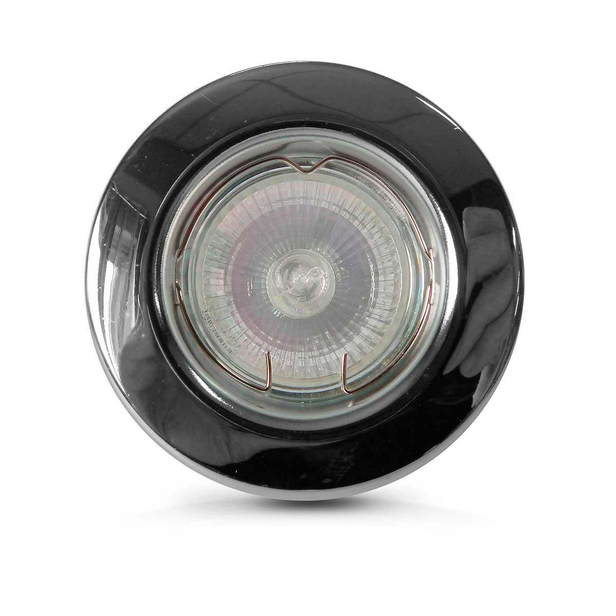Spot Dicroica Fixo Aco Mr16 (Com Lampada 50w)