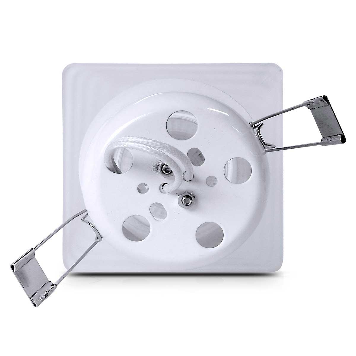 Spot Dicroica Vidro Quadrado (Com Lampada)