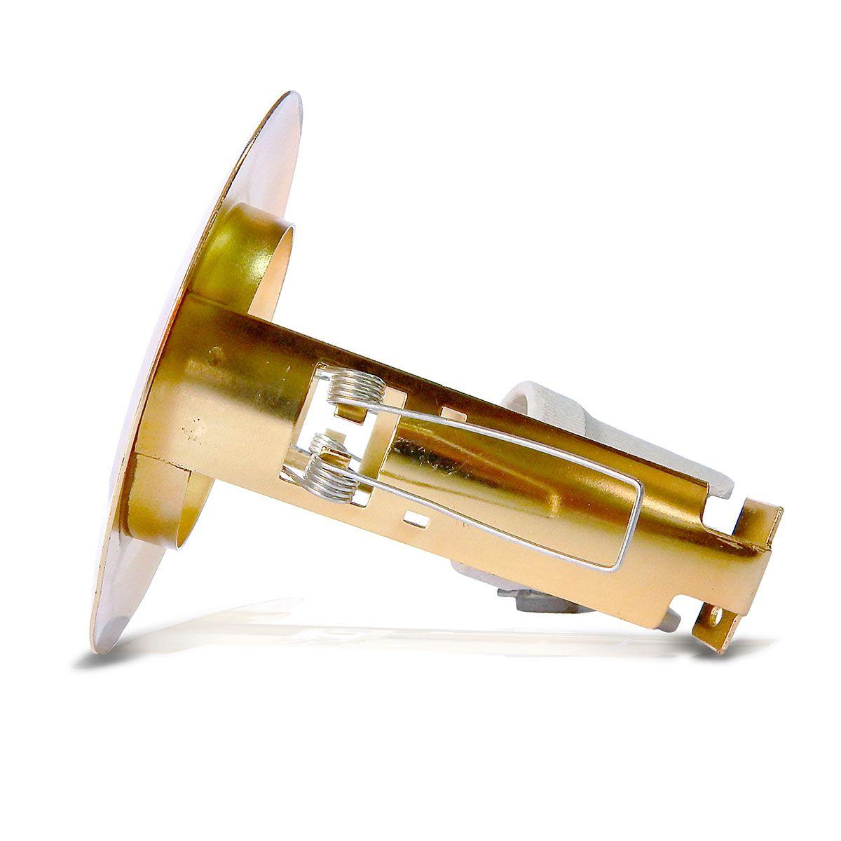 Spot Embutido Fixo E-27 60w (Com Lâmpada Spot 127v. Dourado