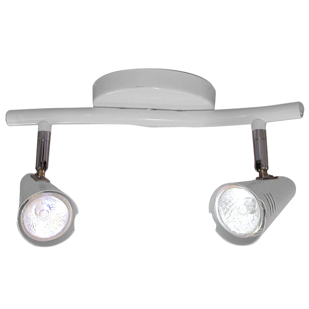Spot Track Lince Aco Regulavel Base Gu-10 2 Lamp. Max. 50w Branco