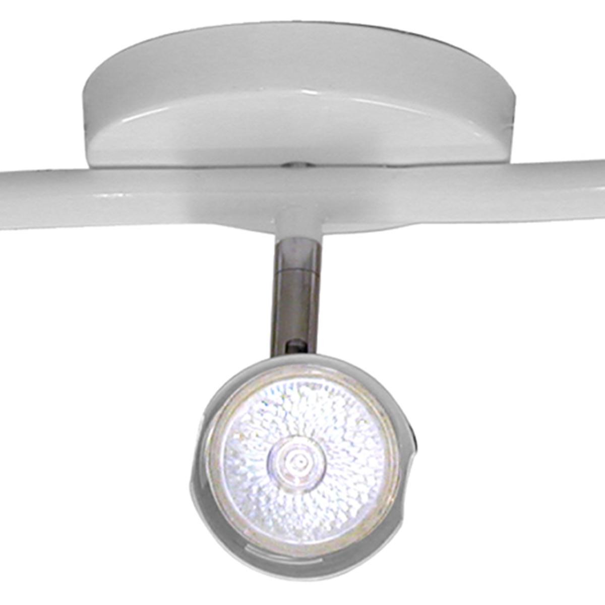 Spot Track Lince Base Regulavel Branca em Aco com 3 Lampadas