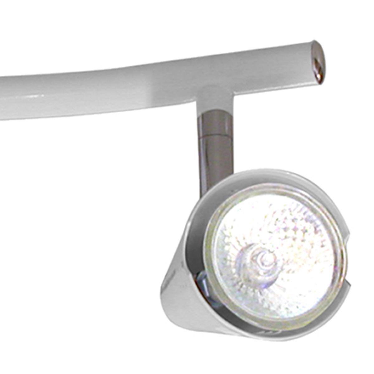 Spot Track Lince Aco Regulavel Base Gu-10 3 Lamp. Max. 50w Branco