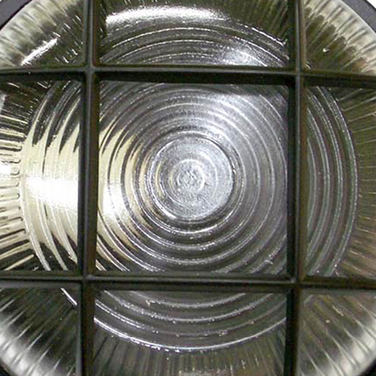 Tartaruga Circular 18cm Aluminio Pint. Epoxi E-27 1 Lamp. Max 60w C/ Grade Preta