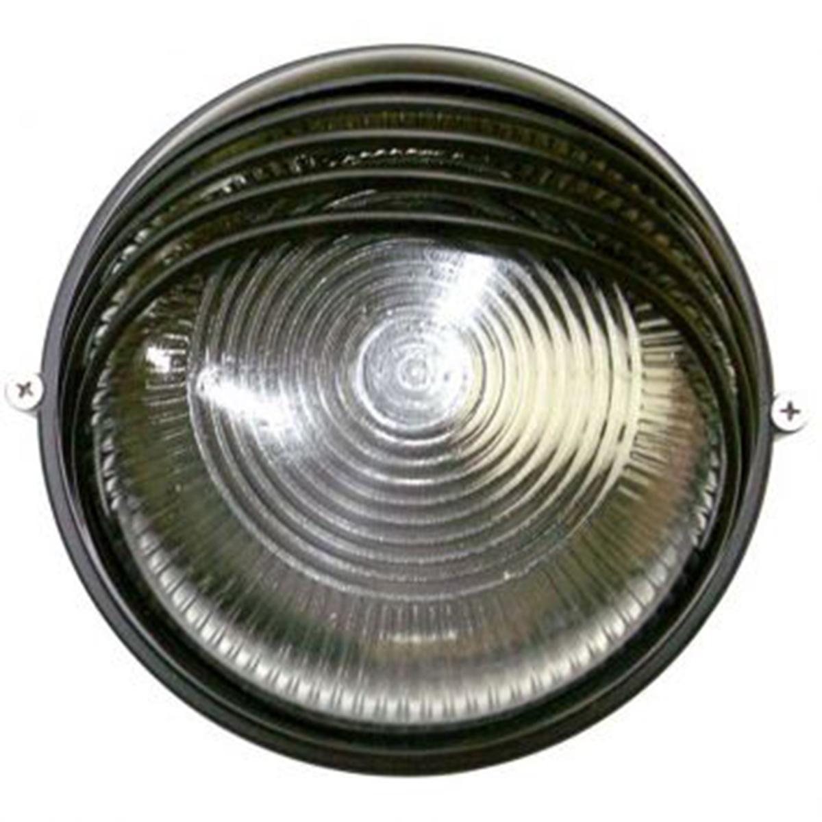 Tartaruga Circular 18cm Aluminio Pint. Epoxi E-27 1 Lamp. Max 60w Meia Cana Preta
