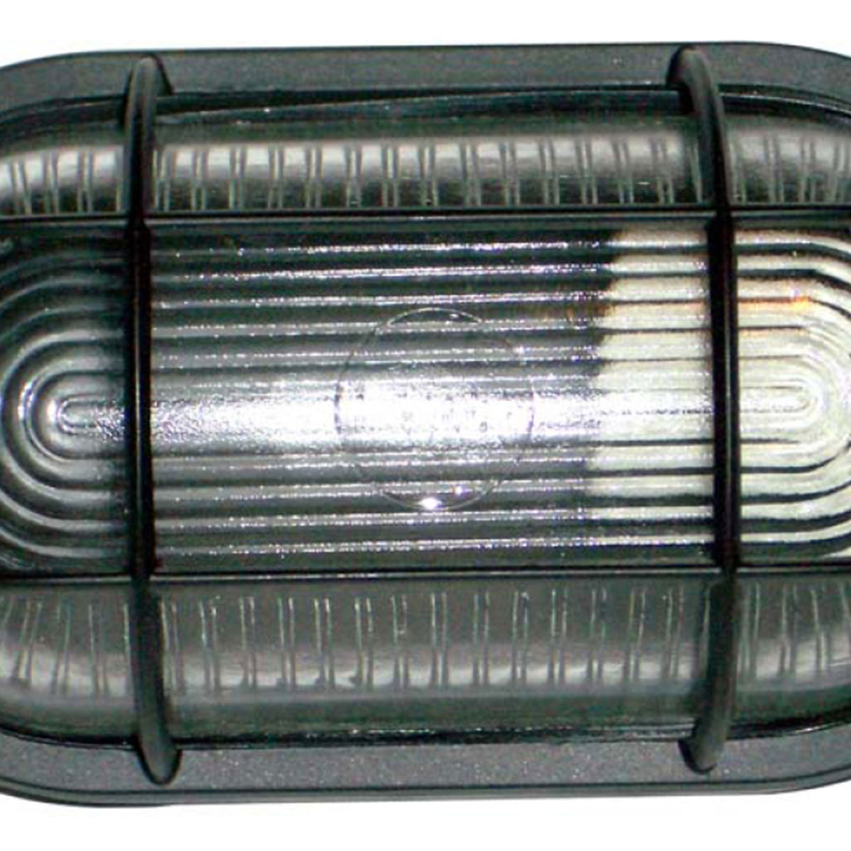 Tartaruga Oval 20cm Aluminio Pint. Epoxi E-27 1 Lamp. Max 60w C/ Grade Preta