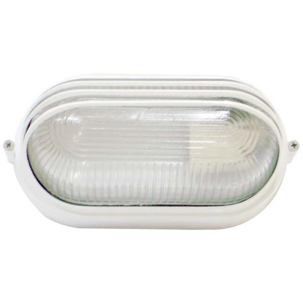 Tartaruga Oval 20cm Aluminio Pint. Epoxi E-27 1 Lamp. Max 60w Meia Cana Branca