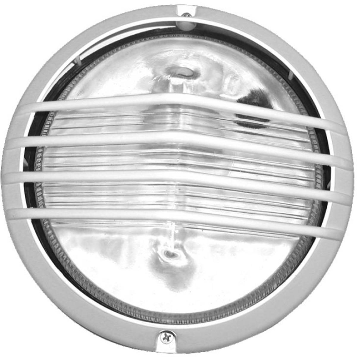 Tartaruga Piramide Circular 19cm Aluminio Pint. Epoxi E-27 1 Lamp. Max 60w Branca