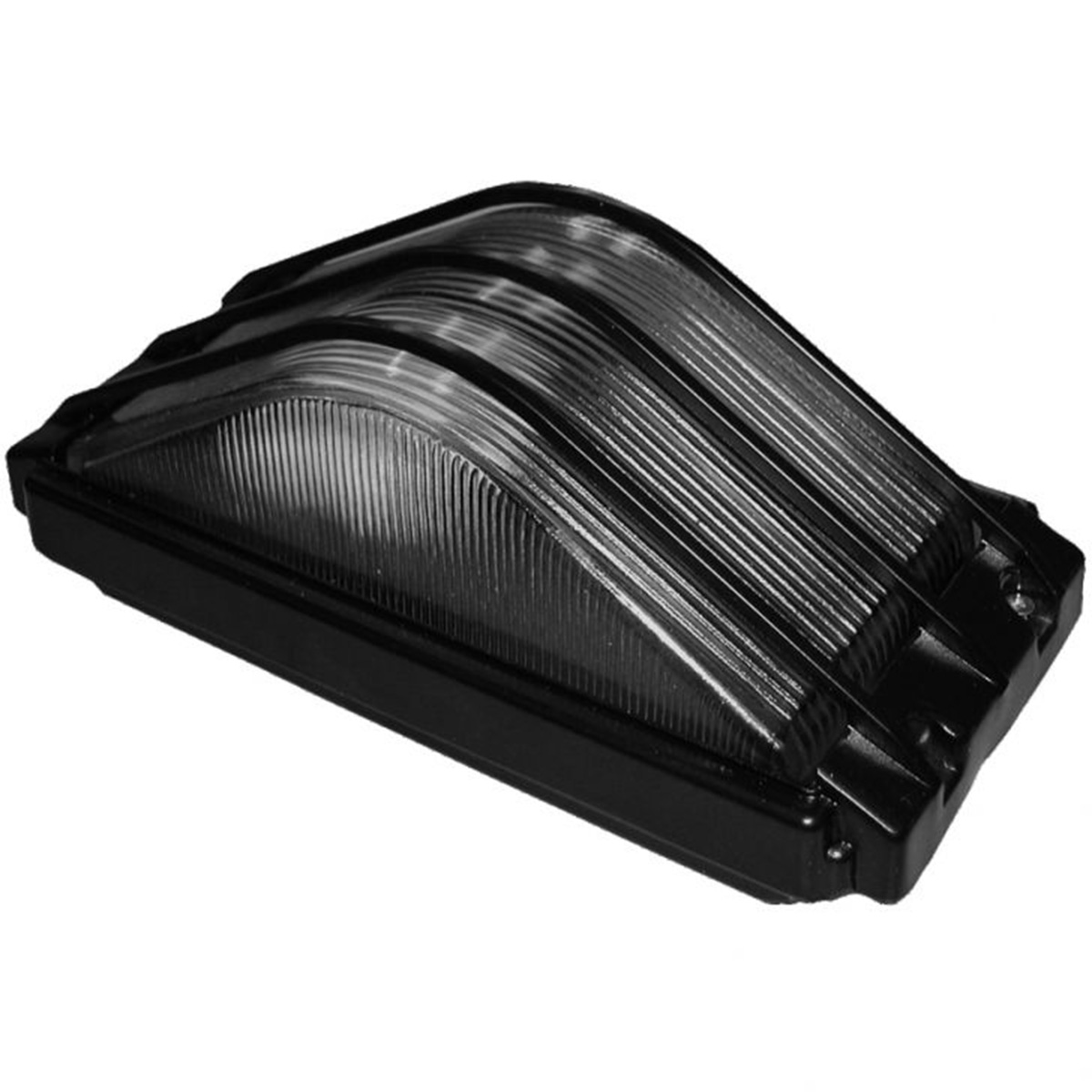 Tartaruga Piramide Retang. 21cm Aluminio Pint. Epoxi E-27 1 Lamp. Max 60w Preta
