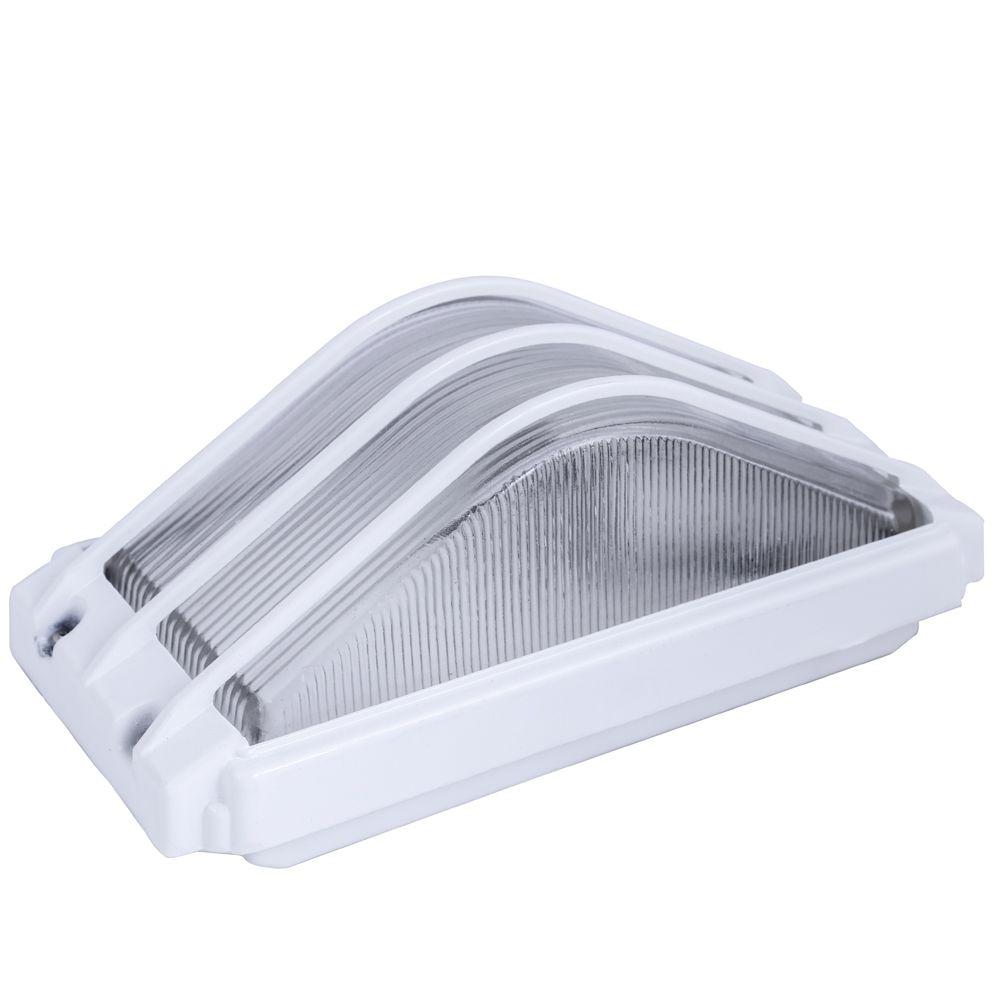 Tartaruga Piramide Retangular 21cm Aluminio Pintuta Epoxi E-27 1 Lampada Max 60w Cor Branca