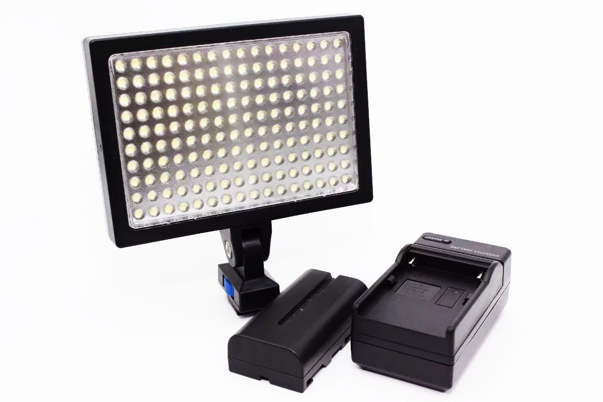 Led/luz/iluminador Profissional Mod1700 Carregador + Bateria Np-f570