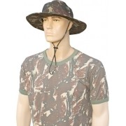 Chapéu camuflado padrão eb ripstop com cordão