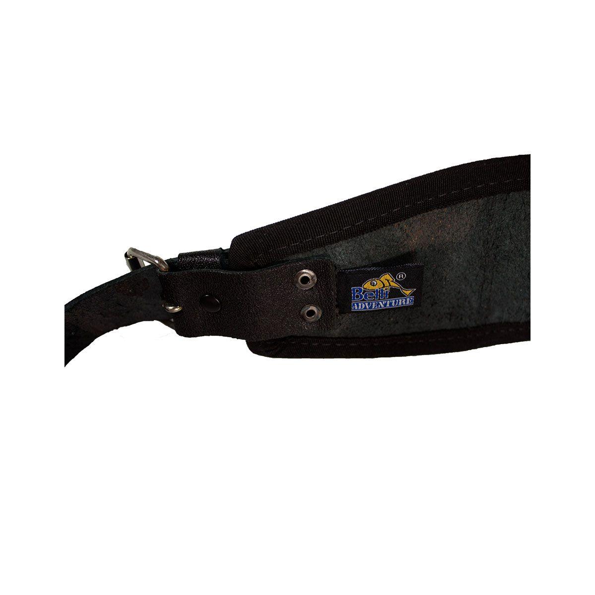 Cartucheira Calibre 24 Couro Legítimo P/30 Cartuchos Cintura
