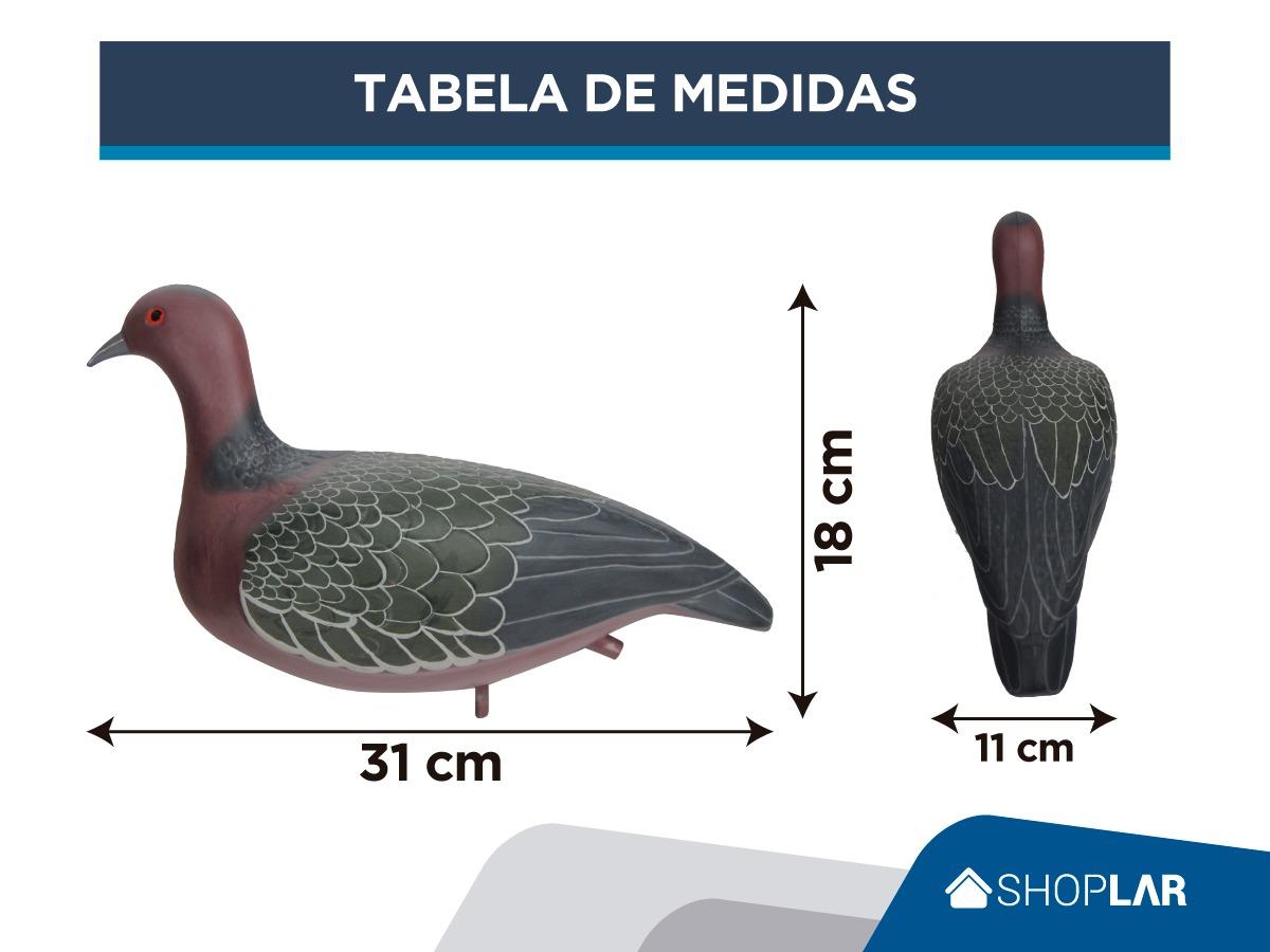 CHAMA PARA POMBA CARIJÓ PINTURA MANUAL ENVERNIZADA PVC