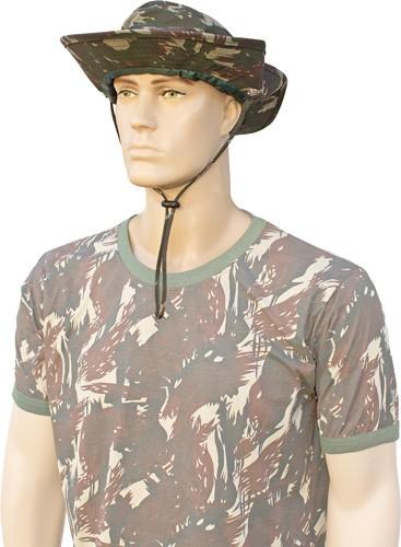 Chapéu proteção na nuca saia removível camuflado ripstop com cordão