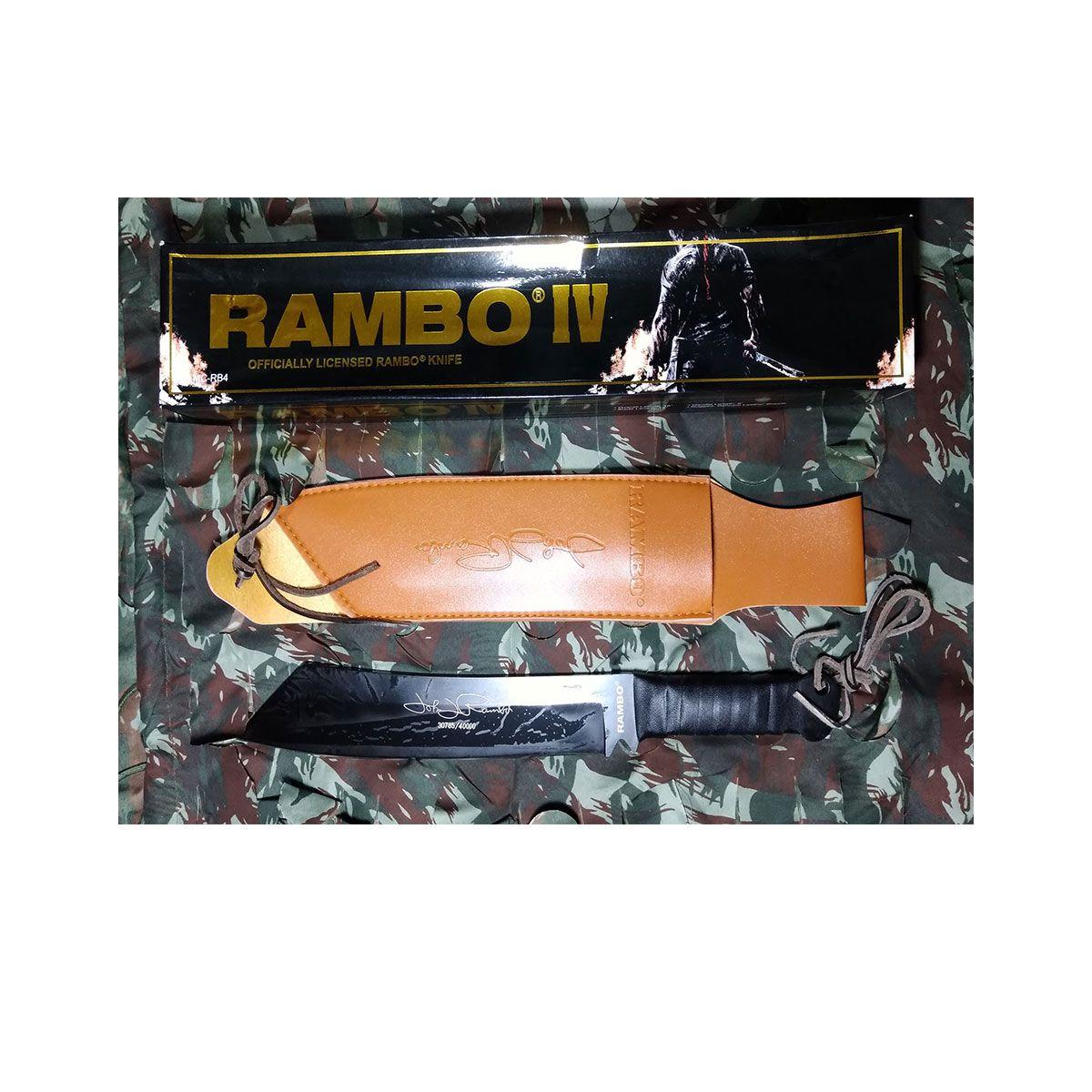 FACA DO RAMBO 4 ORIGINAL 44CM PRETO - FACÃO