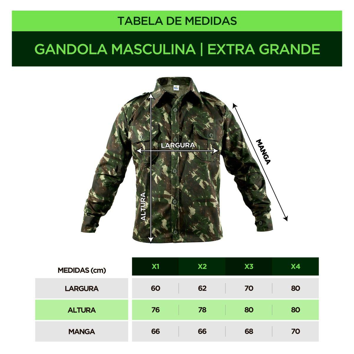 GANDOLA INSTRUÇÃO CAMUFLADA EB RIPSTOP COMFORT GRANDES - EXTRAS