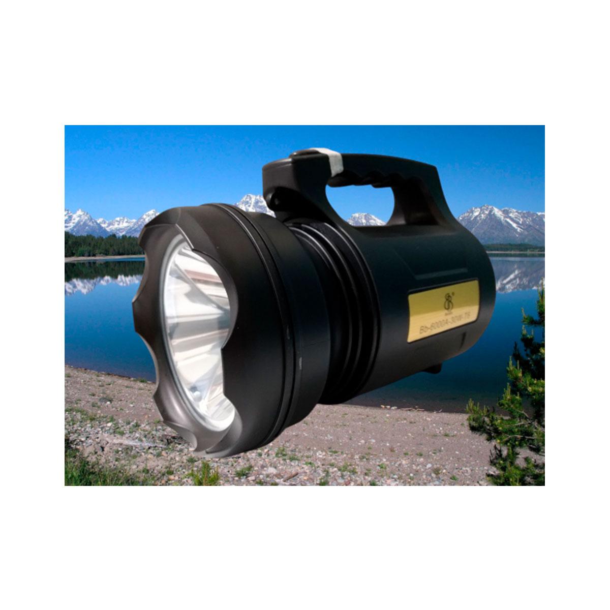 Lanterna holofote bb 6000a led t6 recarregável 30w original